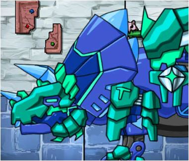 Tricera Blue Dino Robot Adventure Game