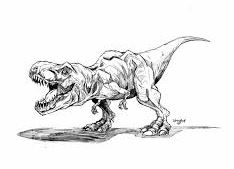 Dinosaur Tyrannosaurus T.Rex Coloring Page Coloring Page