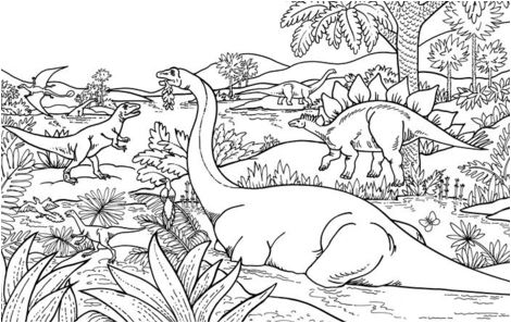 Dinosaurs Coloring Page Game