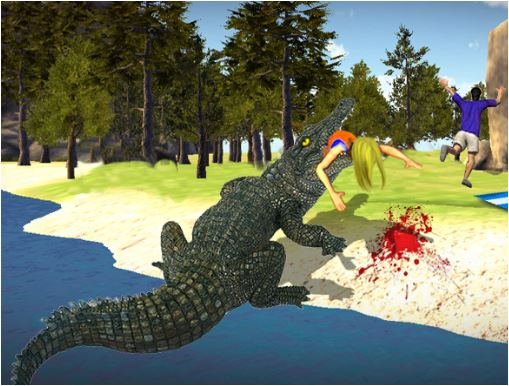 Crocodile Simulator Beach Hunt 3D Game