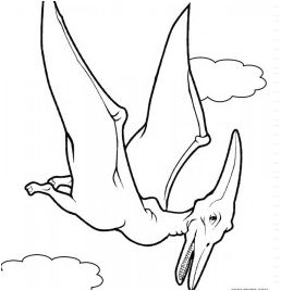 Flying Dinosaur Coloring Page Game