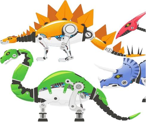 Robot Dinosaurs Puzzle Game
