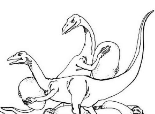 Dinosaurs With Eggs Coloring Page Game
