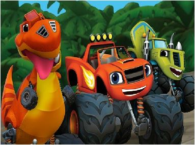 Monster Truck Dinosaur Rescue Game
