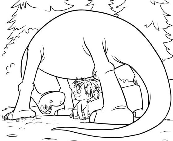 The Good Dinosaur 5 Coloring Page Game