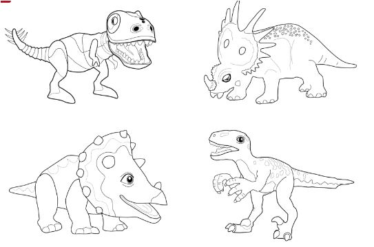 Dinosaur Train Collection Coloring Page Game