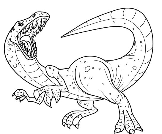 Angry Tyrannosaurus Rex Coloring Page Game