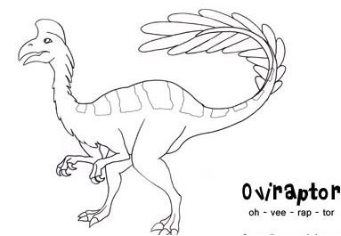 Dinosaur Oviraptor Coloring Page Game