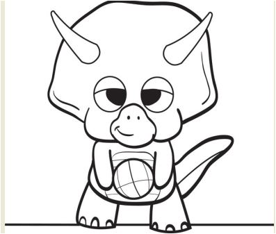 Inspirational Cartoon Dinosaur Coloring Page Game