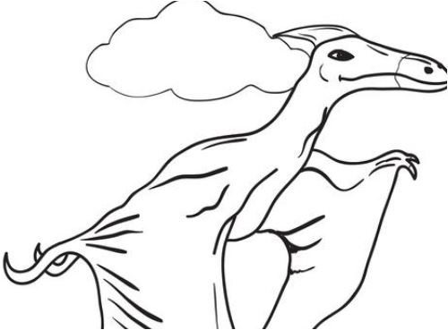 Pterodactyls Dinosaur Coloring Page Game