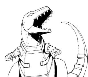 Dinobots Grimlock Tattoo Coloring Page Game