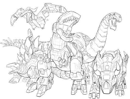 Dinobots Roar WIP Coloring Page Game