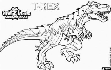 T Rex 2 Coloring Page Game