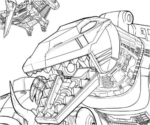 Dinobots  Up Close Coloring Page Game