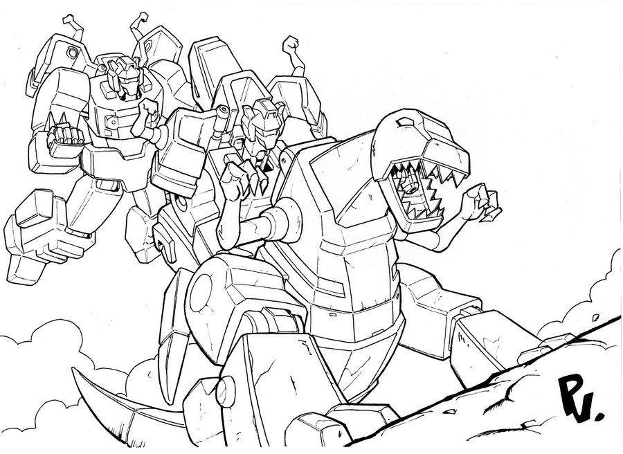 Grimlock Charges Coloring Page Game