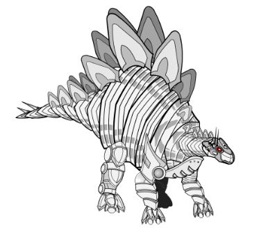 Robot Dinosaur Coloring Page Game