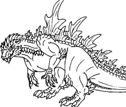 Godzilla Coloring Page Game