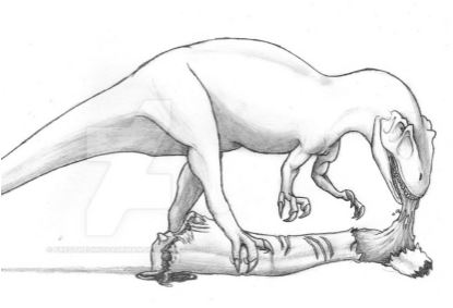 Drawn Dinosaur Allosaurus Coloring Page Game
