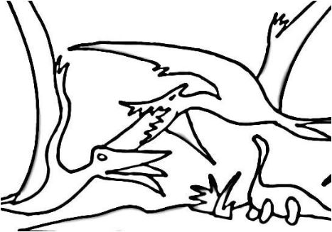 Fight Of Pterodactyls Coloring Page Game