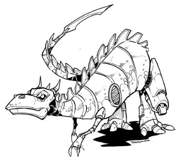 Robot Dino Coloring Page Game