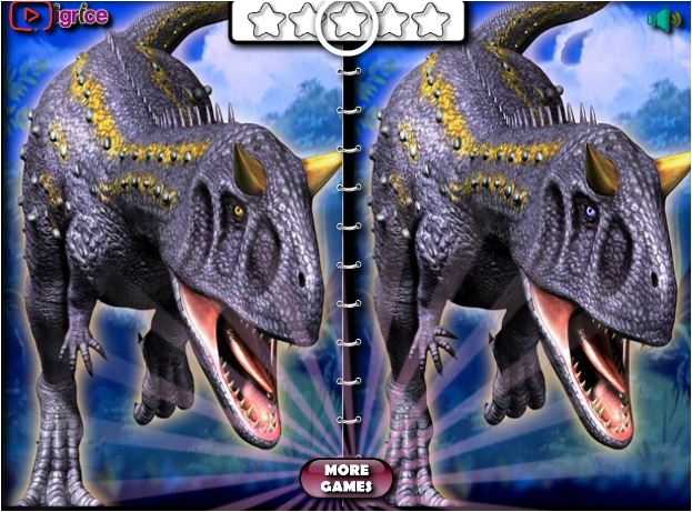 Dinosaur Spot The Differences Game