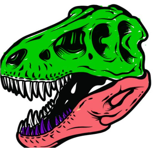 The Dinosaur Fossil Head Coloring Page Game