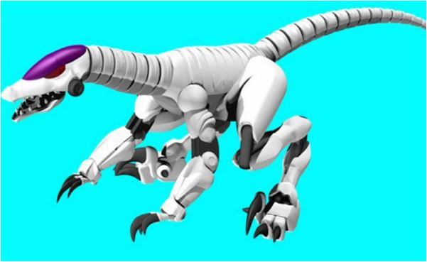 Dino Robot 3 Coloring Page Game