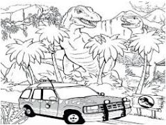 Jurassic Park 2 Coloring Page  Game