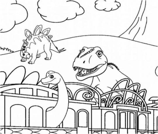 Dinosaur Train 8 Coloring Page Game