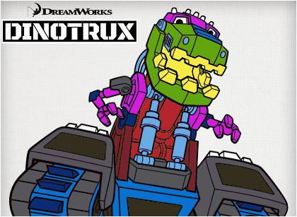 Dinotrux Paint Game