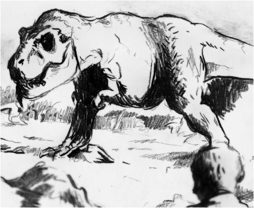 Jurassic Park  T Rex Hunting Gallimimus  Coloring Page Game