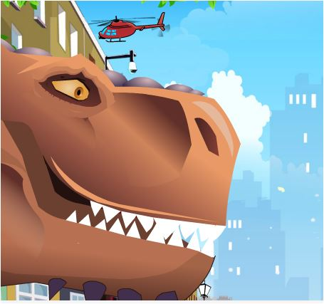 Dinosaur Bike Stunts Game