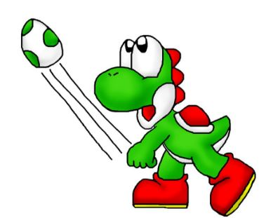 Yoshi Egg Throwing Game