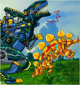 Dino Robot Differences Game
