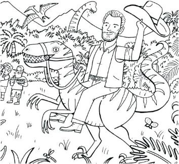 Jurassic Park 3 Coloring Page  Game
