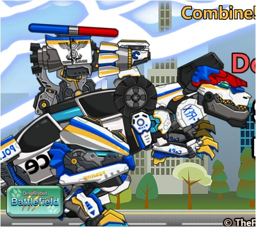 Tyrabo Double Cops Dino Robot Game