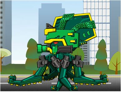 Ancient Octopus Dino Robot Game