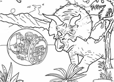 Jurassic Park 4 Coloring Page Game