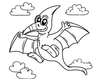 Cute Pteranodon Coloring Page Game