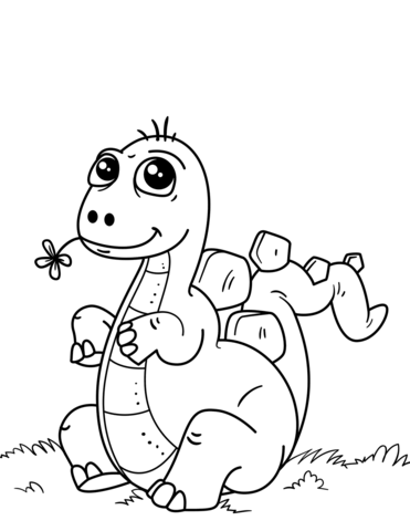 Cute Little Dinosaur Coloring Page Game