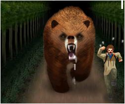 3D Bear Haunting Game