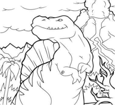 Spinosaurus Dino Coloring Page Game