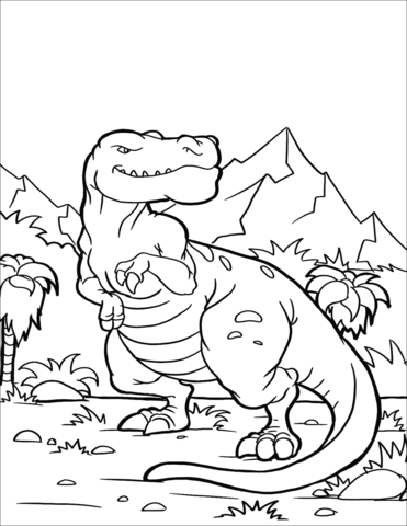 Tyrannosaurus Rex 3 Coloring Page Game
