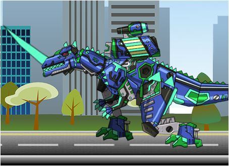 Transform! Dino Robot Ceratosaurus Game