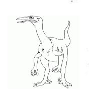 Coelurus Coloring Page Game