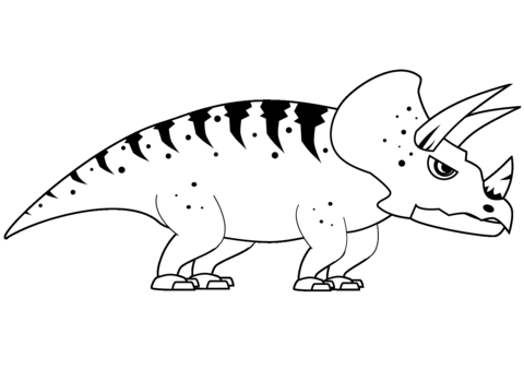 Triceratops Coloring Page Game