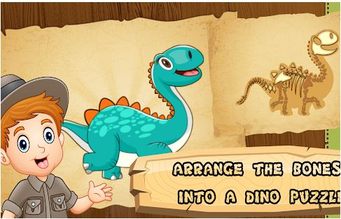 Jurassic Dino Bone Digging Game