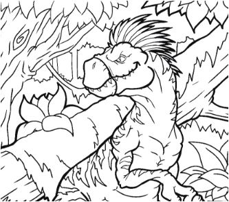 Velociraptor Dromaeosaurid Theropod Dinosaur Coloring Page Game