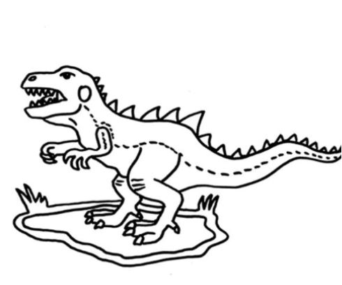 Angry Little Dinosaur Coloring Page Game