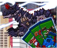 Transform! Dino Robot Carnotaurus Game